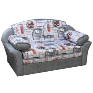 Августин диван-кровать 1200 малогабаритный (Be Cool Trafalgar Red + Dublin 008)