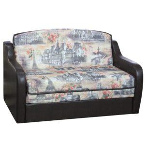 Бруно диван-кровать 1200 малогабаритный (Vogue Rosy Silver, к.з. Sontex Umber )