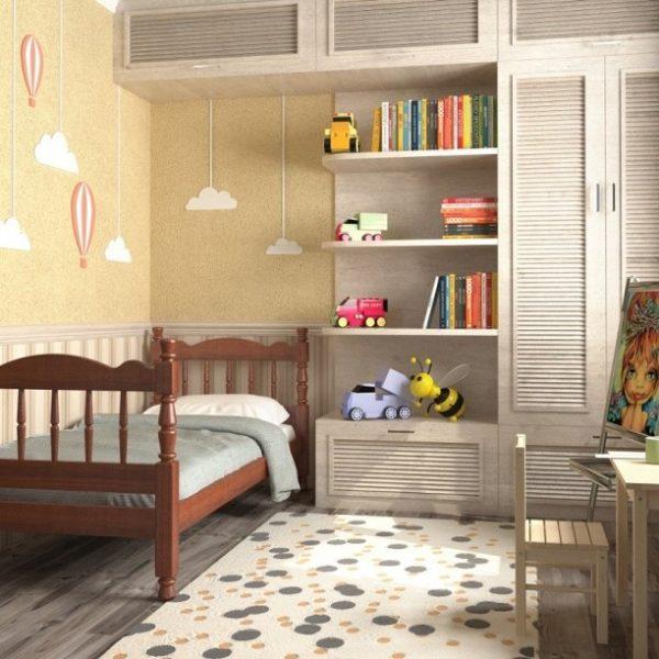 Детская кровать Аленка (орех)