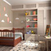 Детская кровать Аленка (орех) с ящиками