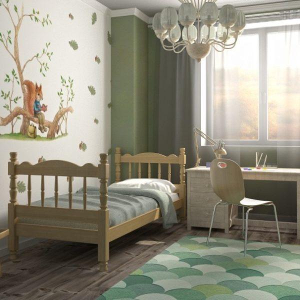 Детская кровать Аленка (сосна)