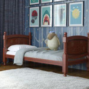 Детская кровать Машенька (орех)