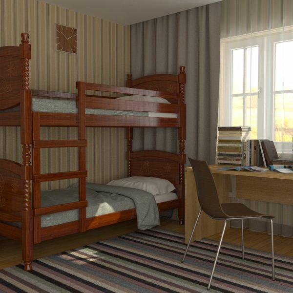 Детская кровать Валерия (орех)