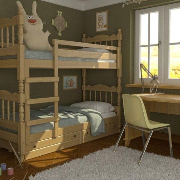 Кровать 2-ярусная Соня сосна