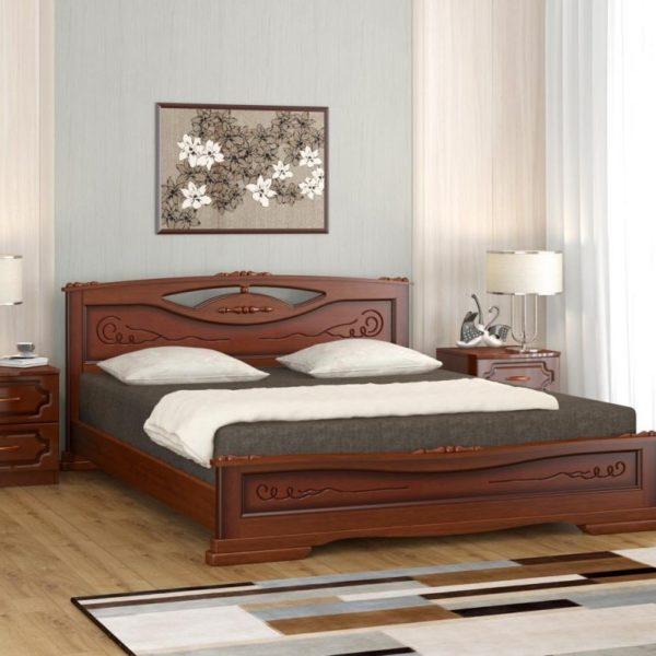 Кровать Елена-3 орех