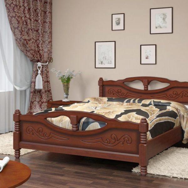 Кровать Елена-4 орех