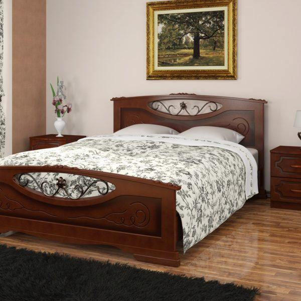 Кровать Елена-5 орех
