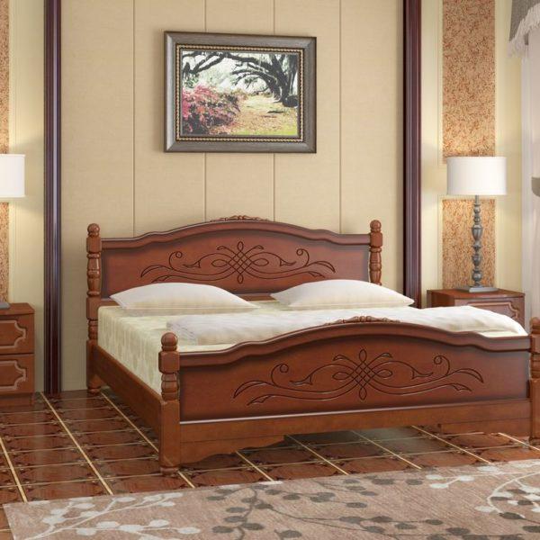 Кровать Карина-12 орех