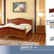 Кровать Карина-12 орех размеры