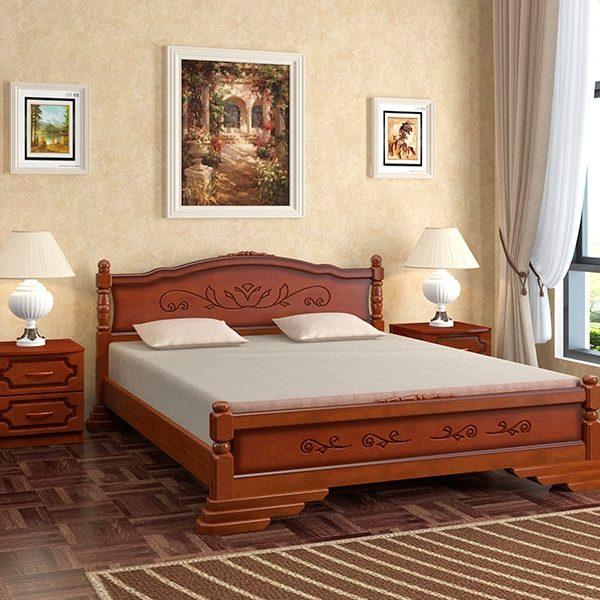 Кровать Карина-4 орех