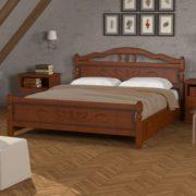 Кровать Карина-5 орех с ящиками (фото)