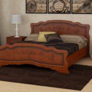 Кровать Карина-6 орех с ящиками (фото)