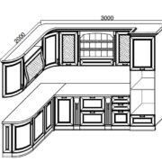 Кухни Сан-Марино 3000x2000 схема
