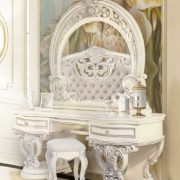 Спальня Марелла т.стол (белый,серебро,велюр)