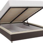 Кровать Севилья с мягким изголовьем подъемный мех.
