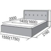 Кровать интерьерная Герта размеры