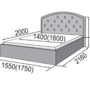 Кровать интерьерная Сельта размеры