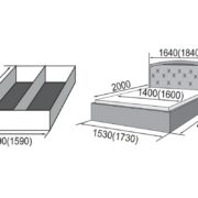Кровать из экокожи Валенсия-1 размеры