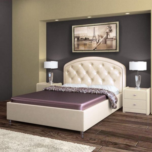 Кровать из экокожи Валенсия