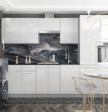 Кухня Капля белый глянец 3.1 - Gloria-Mebel.com