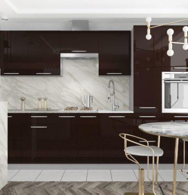 Кухня Капля шоколад 3.1 - Gloria-Mebel.com
