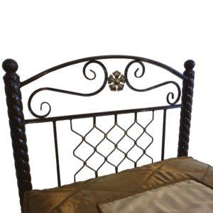 Кровать односпальная металлическая Любава (изголовье)
