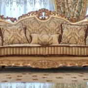 Набор мягкой мебели «ЛОРД» золото орех табло бежевый (1)