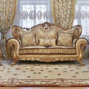 Набор мягкой мебели «ЛОРД» золото орех табло бежевый