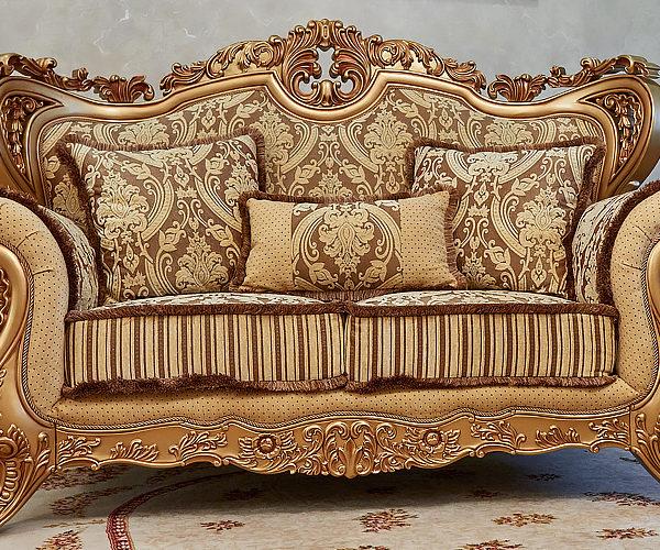 Набор мягкой мебели «ЛОРД» золото орех табло бежевый (2)