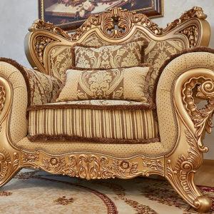 Набор мягкой мебели «ЛОРД» золото орех табло бежевый (3)