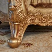 Набор мягкой мебели «ЛОРД» золото орех табло бежевый (5)