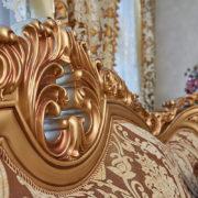 Набор мягкой мебели «ЛОРД» золото орех табло бежевый (6)
