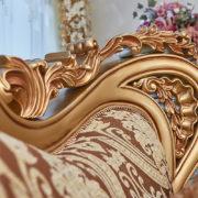 Набор мягкой мебели «ЛОРД» золото орех табло бежевый (7)