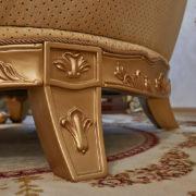 Набор мягкой мебели «ЛОРД» золото орех табло бежевый (9)