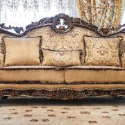 Набор мягкой мебели «ЛОРД» золото валей голд (1)