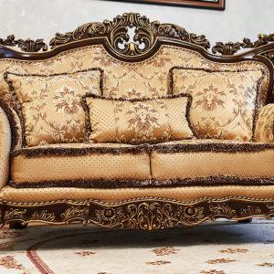 Набор мягкой мебели «ЛОРД» золото валей голд (2)