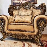 Набор мягкой мебели «ЛОРД» золото валей голд (3)