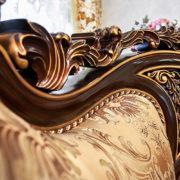 Набор мягкой мебели «ЛОРД» золото валей голд (7)