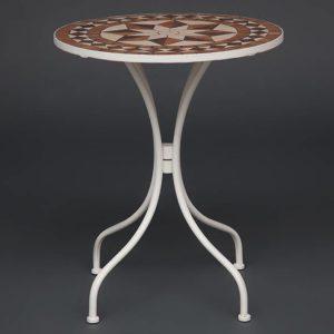 Кованый стол Secret De Maison «Ромео» (Romeo) (плитка «Звезда») (1)