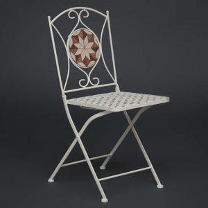 Кованый стул Secret De Maison «Джулия» (Julia) (плитка «Звезда»)