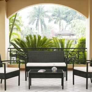Лаундж сет (диван+2кресла+столик+подушки)