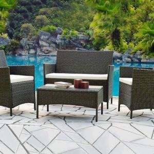 Лаундж сет (диван+2кресла+столик+подушки) (mod. 210013)