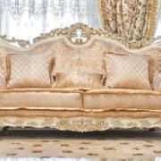Набор мягкой мебели «ЛОРД» крем золото неаполь голд (1)