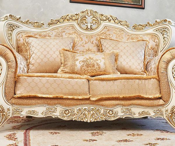 Набор мягкой мебели «ЛОРД» крем золото неаполь голд (2)