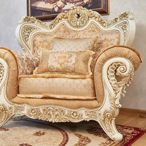 Набор мягкой мебели «ЛОРД» крем золото неаполь голд (3)