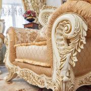 Набор мягкой мебели «ЛОРД» крем золото неаполь голд (4)