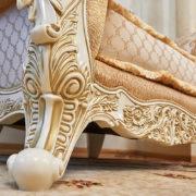 Набор мягкой мебели «ЛОРД» крем золото неаполь голд (9)