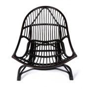 Кресло-качалка «VINECE» нат. ротанг с матрасом (1)