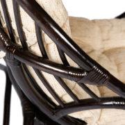 Кресло-качалка «VINECE» нат. ротанг с матрасом (2)