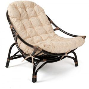 Кресло-качалка «VINECE» нат. ротанг с матрасом